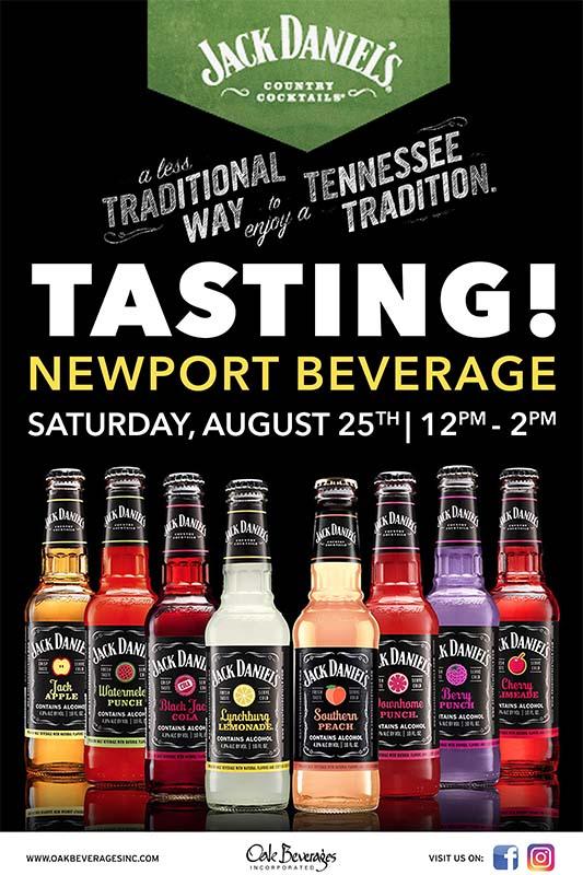 Jack Daniel's Tasting Event at Newport Beverage