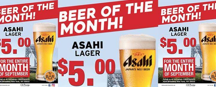 Asahi Beer Month at Bar 180