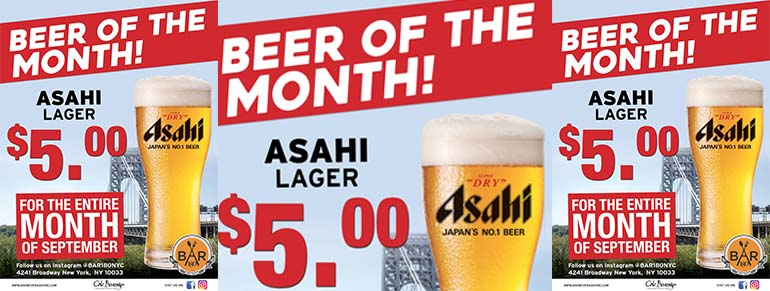 Asahi Beer Month at Bar 180