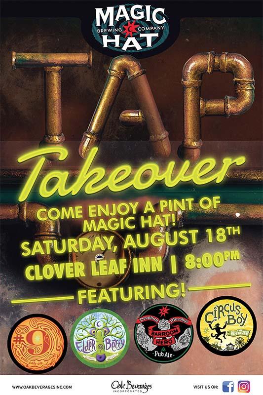 Magic Hat Tap Takeover at Clover Leaf Inn