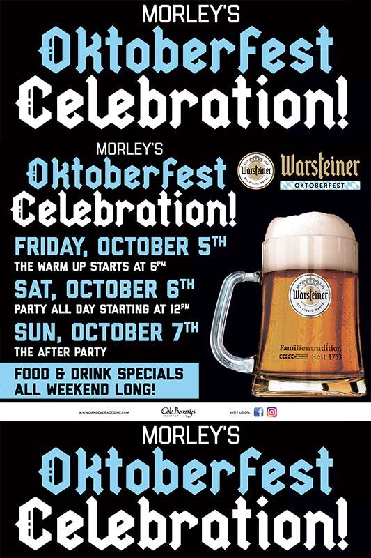 Morley's Warsteiner Oktoberfest Celebration