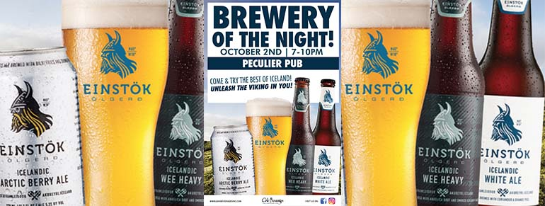 Einstok Brewery Night at Peculier Pub