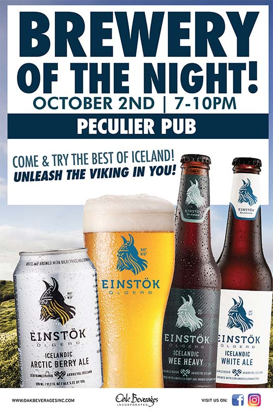 Einstok Brewery Night at Peculier Pub