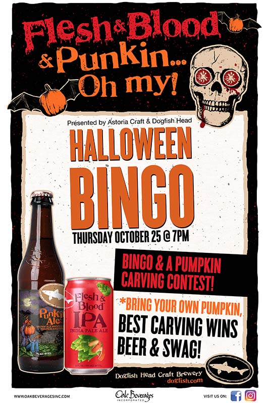 Dogfish Head Halloween Bingo & Carving at Astoria Craft