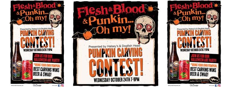 Halsey's & Dogfish Head Present Pumpkin Carving Contest
