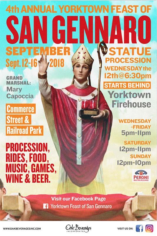 Peroni Sponsors Yorktown San Gennaro Feast 2018