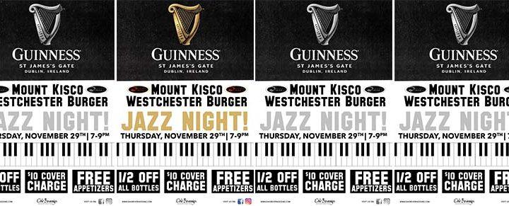 Guinness Jazz Night Westchester Burger Mount Kisco