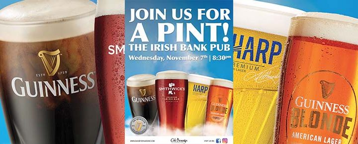 The Irish Bank Pub Guinness Pint Night