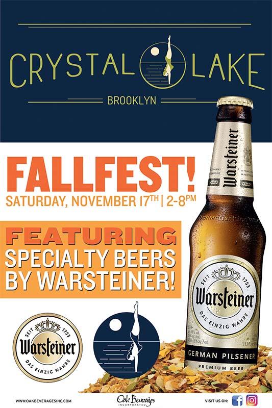 Crystal Lake Brooklyn Hosts Warsteiner Fallfest