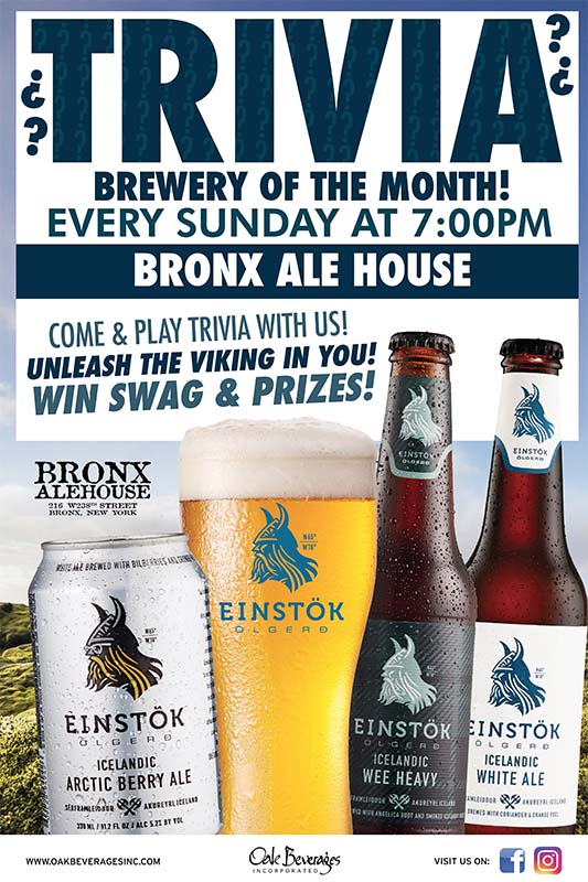 Einstok Brewery of the month at Bronx Alehouse