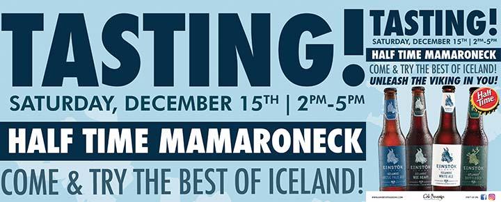 Einstok Tasting Event at Half Time Mamaroneck