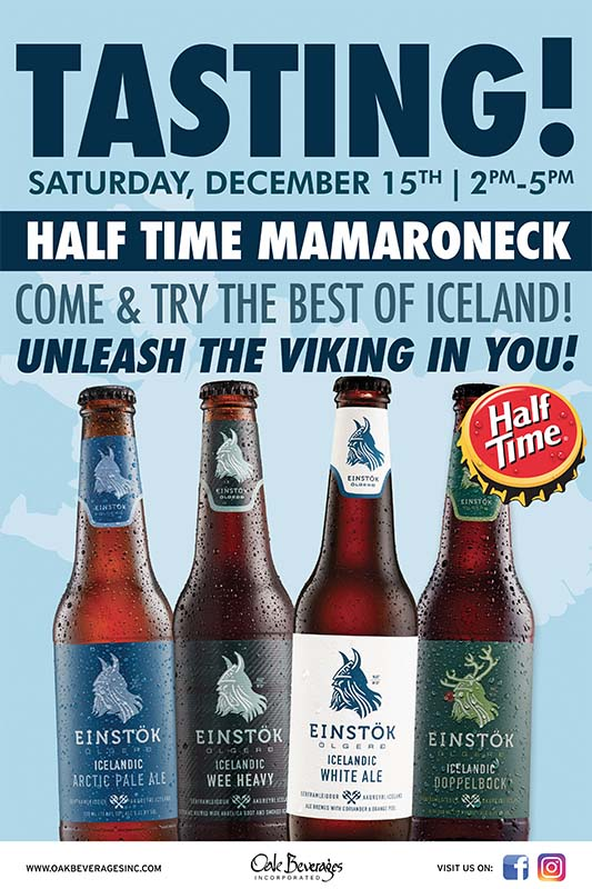Einstok Tasting Event at Half Time Mamaroneck