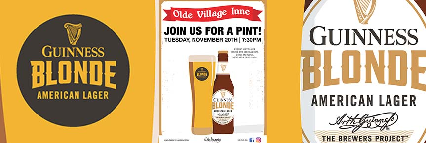 Olde Village Inne Guinness Blonde Pint Night