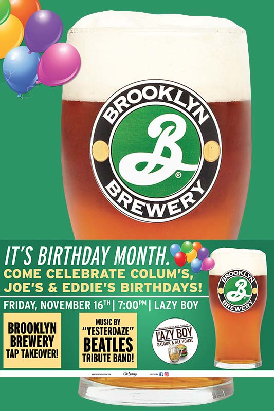 Lazy Boy Saloon Brooklyn Brewery Tap Takeover Birthday Party