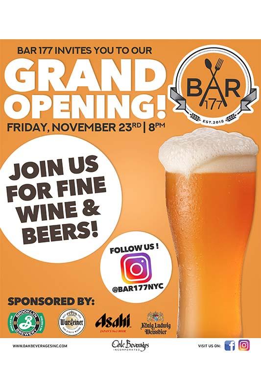 Bar 177 NYC Grand Opening