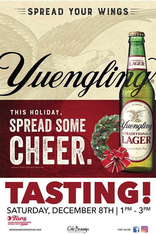 Tops Market Yuengling Tasting Event