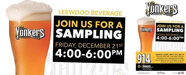 Yonkers Brewing Tasting at Leewood Beverage