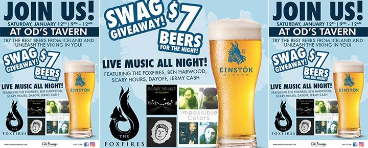 Einstok Tap Takeover at O'D's Tavern of Nyack