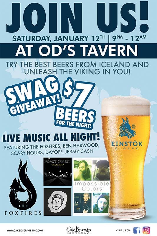 Einstok Tap Takeover at O'D's Tavern of Nyack