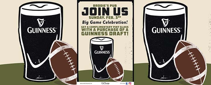 Brodie's Big Game Guinness Celebration