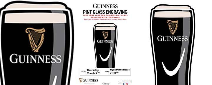 Guinness Glass Engraving