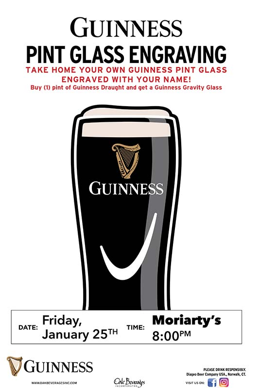 Guinness Glass Engraving Party