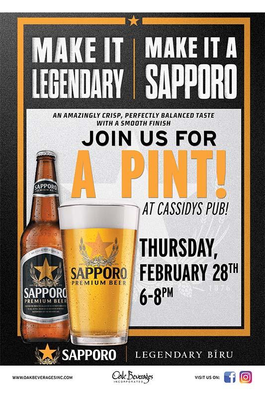 Sapporo Pint Night