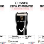 The Alibi Guinness Pint Glass Engraving Event