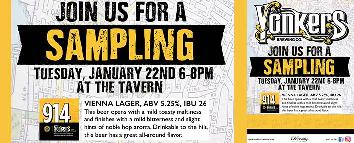 Tavern at Croton Landing's Yonkers Brewing Sampling