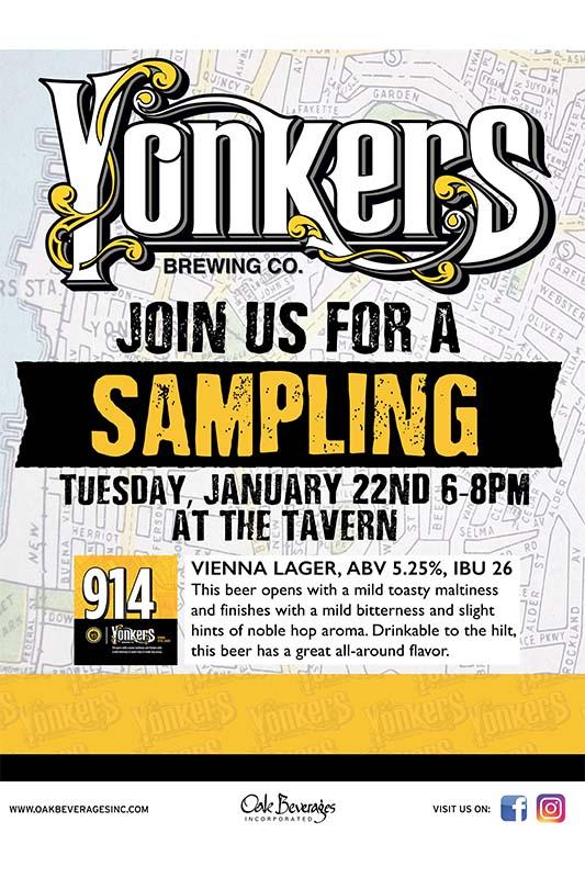 Yonkers Brewing Sampling