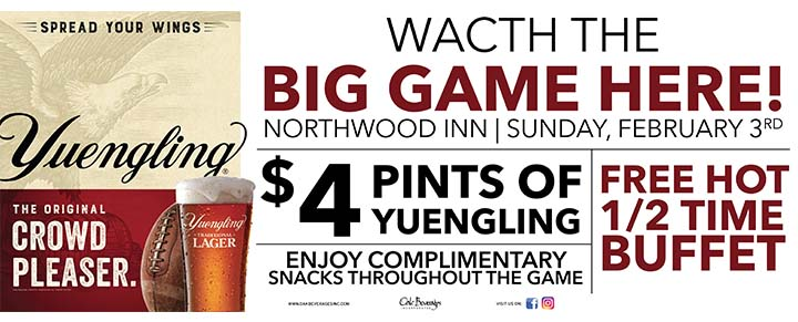 Northwood Inn Football with Yuengling Special