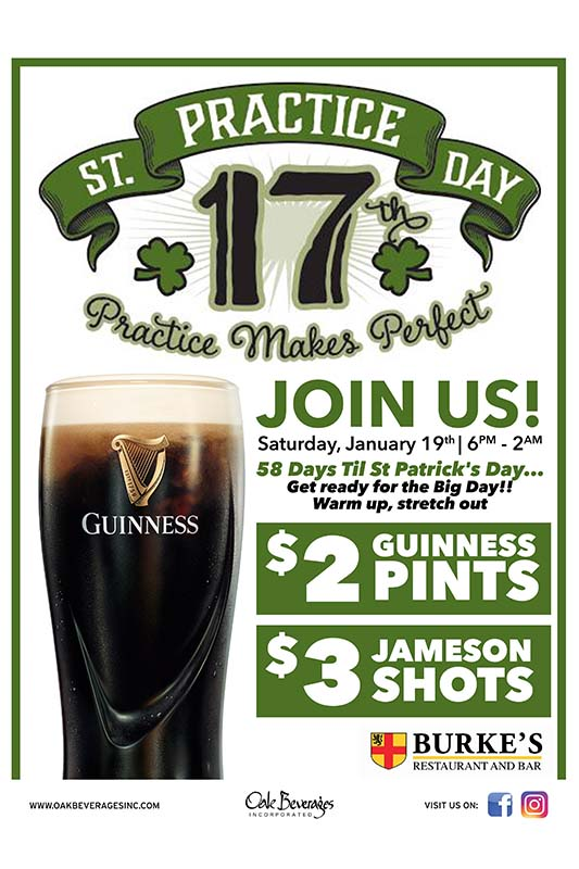 St. Practice Day Guinness Party