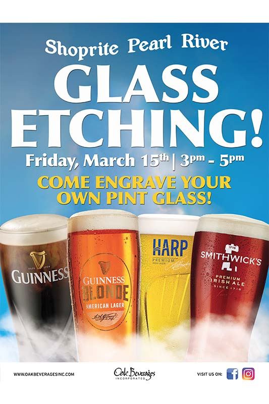 Shoprite Pearl River Guinness Engraving Event