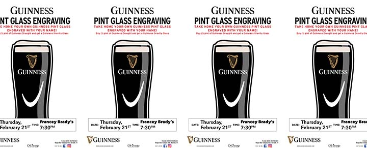 Francey Brady's Guinness Glass Engraving