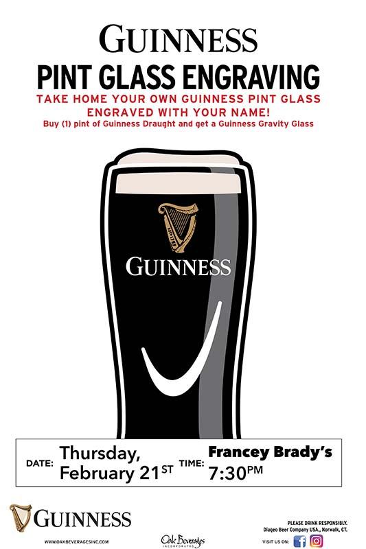 Francey Brady's Guinness Glass Engraving