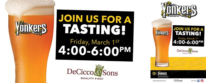 Yonkers Brewing Tasting at Decicco's Millwood