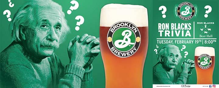 Brooklyn Brewery Presents Ron Blacks Trivia