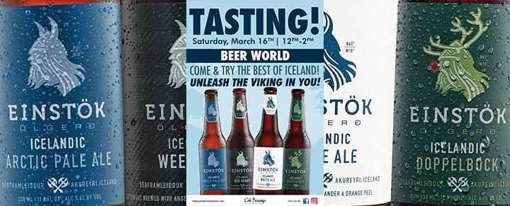 Beer World Einstok Tasting Event
