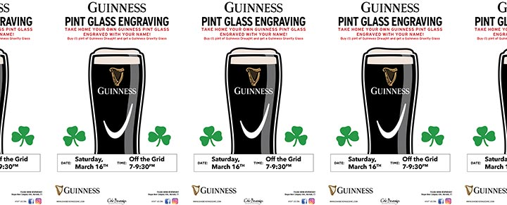 Off the Grid host Guinness Glass Engraving