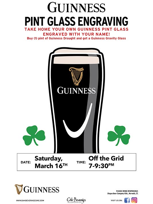Guinness Glass Engraving