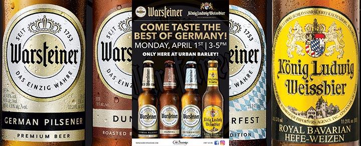 Urban Barley host Warsteiner tasting event