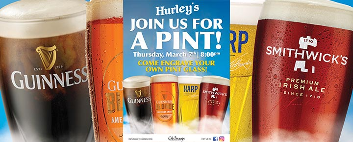 Hurley's Guinness Glass Engraving Event