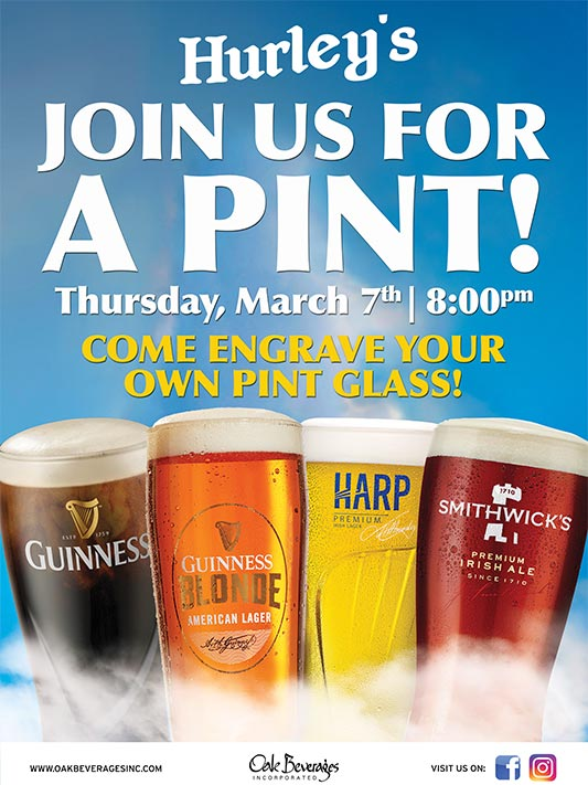 Guinness Glass Engraving Event