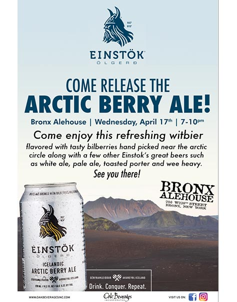 Bronx Alehouse Einstok Arctic Berry Ale Release