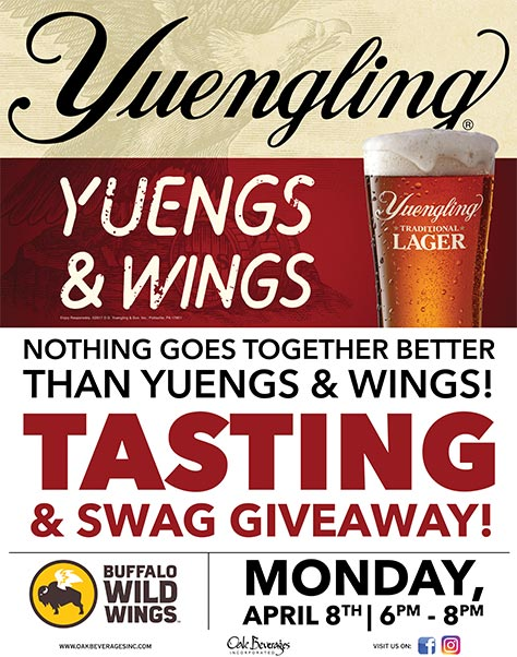 Buffalo Wild Wings Yuengling Tasting Event