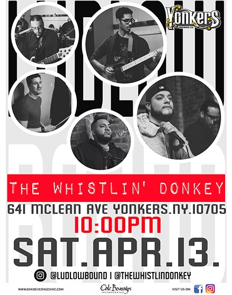 Yonkers Brewing Present Ludlow Bound at Whistlin Donkey