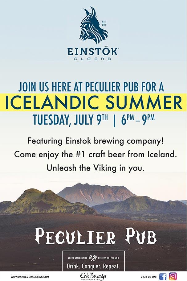 Peculier Pub's Icelandic Summer