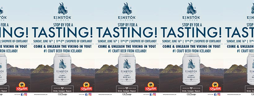 Einstok Tasting at ShopRite of Cortlandt