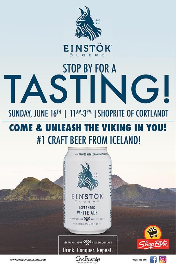 Einstok Tasting at ShopRite of Cortlandt