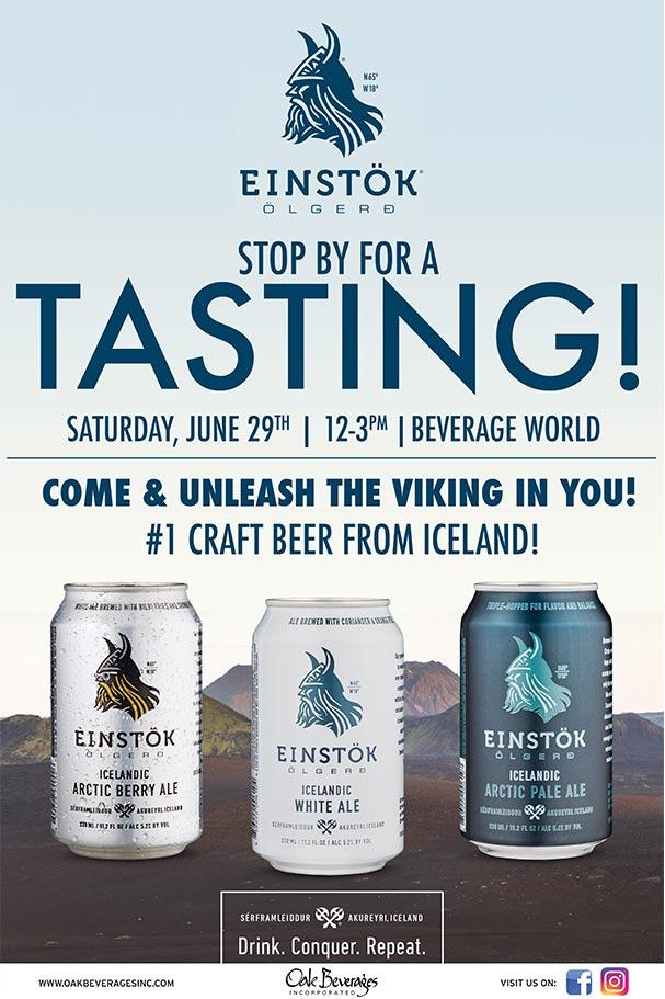 Einstok Tasting at Beverage World Peekskill